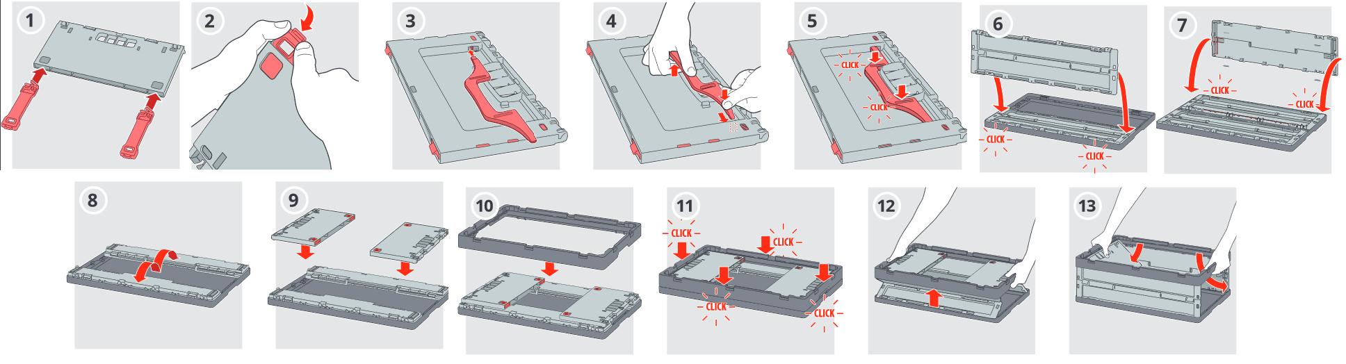 Istruzioni Montaggio Cassette Pieghevoli