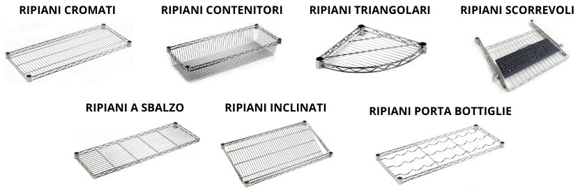 Ripiani Scaffali Metallici